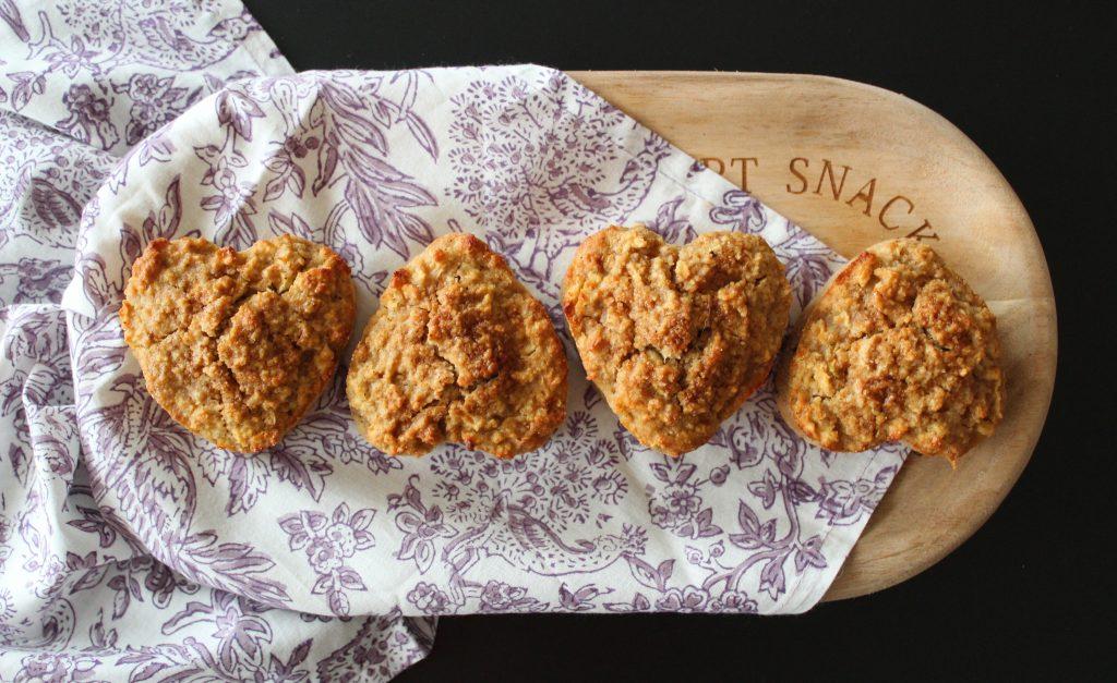 Muffins de manzana, canela y miel